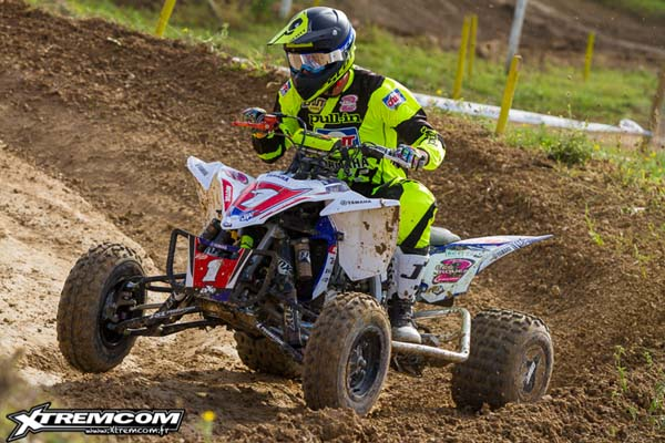 Jeremie Warnia couronné champion de France de quad cross 2014