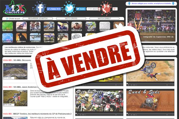 NEWS, Le site mxcircuit.fr est à vendre !