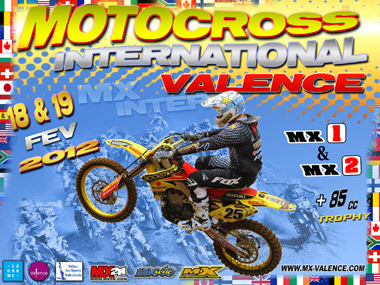 Affiche Motocross International de Valence 2012