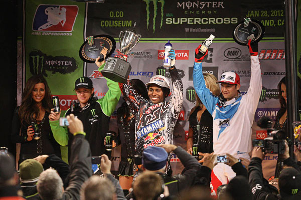 Podium supercross Oakland 2012
