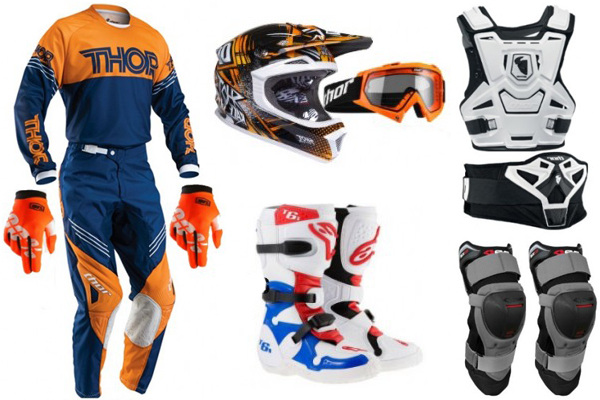 Protections indispensables � la pratique du motocross
