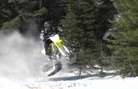 motocross des neiges