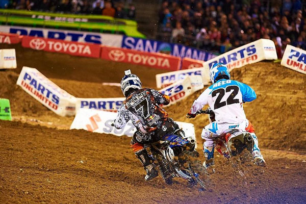 James Stewart vs Chad Reed supercross ama 2012