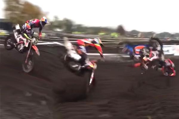 Big Crash de Jeffrey Herlings à Boekel ce week-end