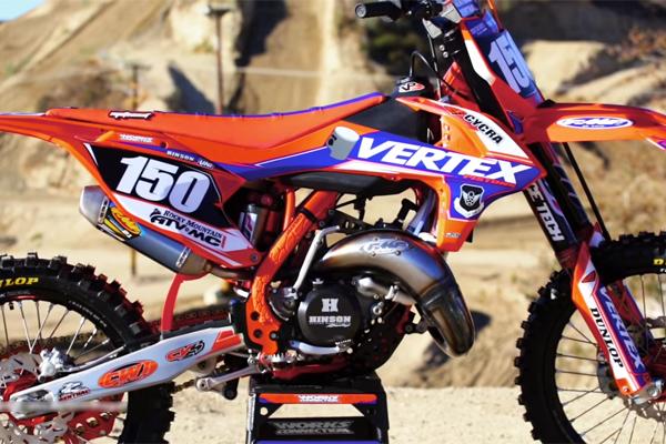 La KTM 150 SX 2 Temps version Vertex, une tueuse de 250cc ?