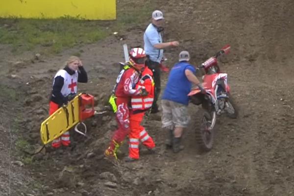 MXGP Teutschenthal, Tim Gajser chute violemment en course qualif