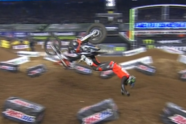 Chutes en pagaille au Supercross de Houston
