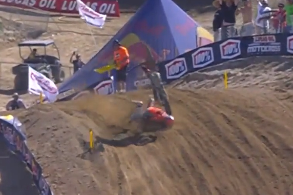 MX AMA, l'énorme crash de Cameron Mcadoo à Glen Helen